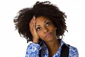 Sadness African Amercan Woman