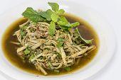Bamboo Shoot Salad Northeastern Style, Soup Nor Mai