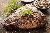 Grilled Bbq T-bone Steak