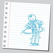 Businessman with hula hoop