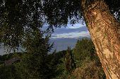the Leman lake, near Evian, France