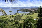 picture of west indies  - golf and bay of les trois ilets, Martinique island, west indies
