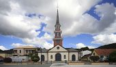 stock photo of west indies  - Village and church of the Anses d - JPG