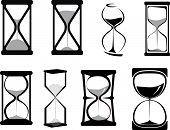 Set of hour glasses