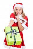 Christmas Woman Giving Present