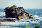 foto of tanah  - Tanah Lot Temple on Sea in Bali Island Indonesia - JPG