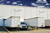 pic of semi trailer  - Warehouse Loading Docks  - JPG