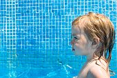 Toddler Girl In The Pool