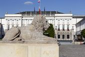 Stone Lion And The Presidential Palace