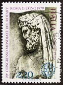 ITALY - CIRCA 1979: a stamp printed in Italy celebrates World Rotary congress in Rome showing an ima