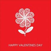 Elegant Flower Greetings Happy Valentine's Day, Recognition, Design Element