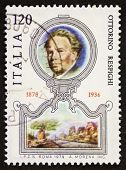 ITALY - CIRCA 1979: a stamp printed in Italy celebrates the first centenary of the birth of Ottorino