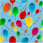 Varicoloured Balloons On A Blue Background