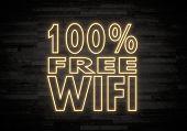 100 Percent Free Wifi Sign On Classy Stone Wall