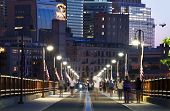 image of arch  - Minneapolis From Stone Arch Bridge - JPG