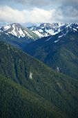 image of olympic mountains  - Olympic Peninsula Mountains - JPG