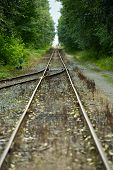 foto of merge  - Railroad Tracks Vertical Photography - JPG