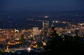 Portland Panorama At Night