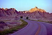Curved Badlands Road