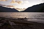 picture of u-boat  - Lake Crescent Sunset  - JPG