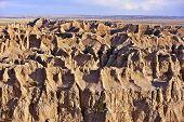 Sandy Landscape Of Badlands
