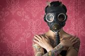 image of ammo  - Sexy Woman wearing a Ammo Gas Mask - JPG