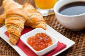 Continental Breakfast With Croissant & Coffee