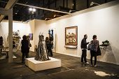 MADRID, SPAIN - 19 FEBRUARY 2014.Gallery.Begin 2014 ARCO, the International Contemporary Art Fair in Madrid, Spain
