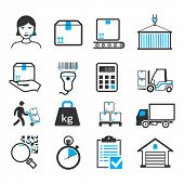 pic of shipping receiving  - Delivery icons set - JPG
