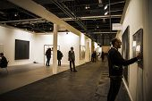 MADRID,SPAIN - 19 FEBRUARY 2014.Sculpture.Begins 2014 ARCO, the International Contemporary Art Fair