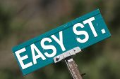 Easy Street Sign, Angled Up