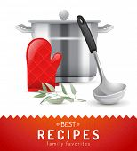 Cooking background with highly detailed cooking icon
