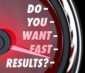 Do You Want Fast Results Question Outcome Immediate Satisfaction