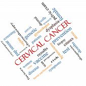 Cervical Cancer Word Cloud Concept Angled
