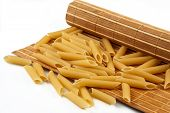 pasta from durum wheat on the mat