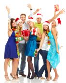 pic of christmas party  - Happy funny people - JPG
