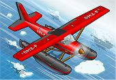 Isometric Artic Hydroplane In Flight In Front View
