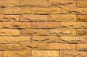 Sand Stone Brick Wall Surface, Background Of Decorate