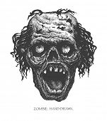 foto of madman  - zombie head - JPG