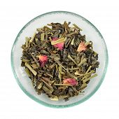 Green Tea With Lemon Grass And Rose Petals.