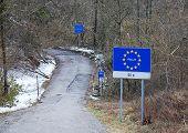 Italian Border Near Slovenia