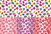 leopard kisses seamless tiling background pattern