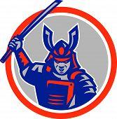 Samurai Warrior Katana Sword Circle