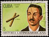 CUBA - CIRCA 1991: Postage stamp printed in Cuba showing an image of composer Miguel Failde, circa 1991.