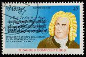 CUBA - CIRCA 1997: a postage stamp printed in Cuba showing an image of Johann Sebastian Bach, circa 1997.