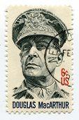 USA-CIRCA 1964: Douglas MacArthur on US postage mark, circa 1964