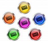 Mail Envelope Icon Button