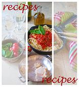 Pasta With Bolognese Sauce, Parmesan Cheese And Basil - Recipes