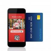 Isolated Phone Commits Online Purchase With Credit Card