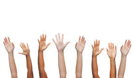 picture of waving hands  - gesture and body parts concept  - JPG